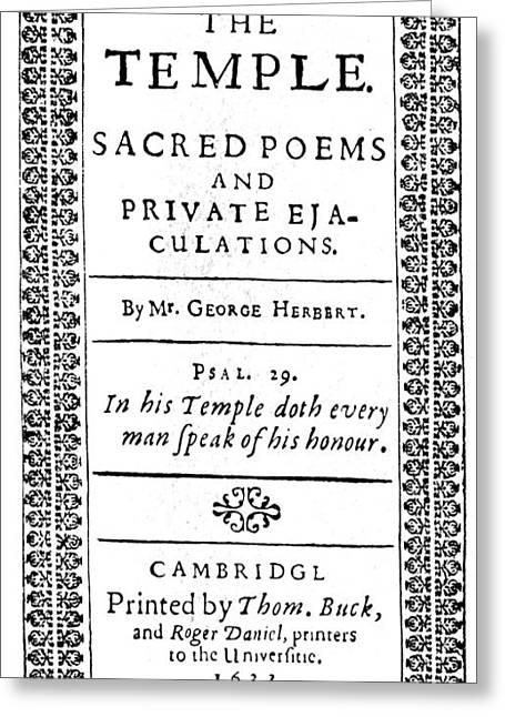 George Herbert (1593-1633) Greeting Card