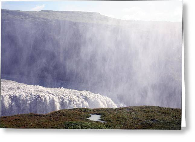 Greeting Card featuring the photograph Gullfoss by David Harding