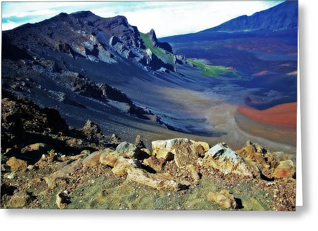 Haleakala Crater In Maui Hawaii Greeting Card by Sheila Kay McIntyre