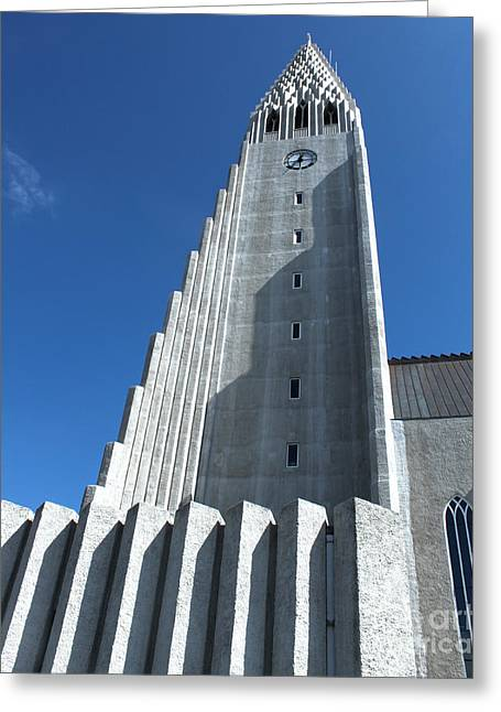 Hallgrimskirkja Church - Reykjavik Iceland  Greeting Card by Gregory Dyer