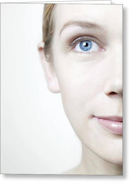 Healthy Woman's Face Greeting Card by
