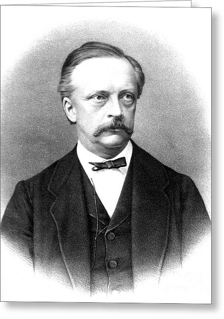 Hermann Von Helmholtz, German Physician Greeting Card by Science Source
