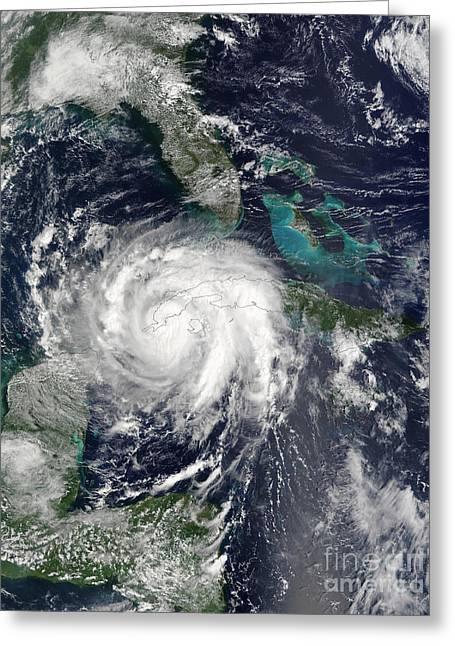 Hurricane Lili Greeting Card by Stocktrek Images