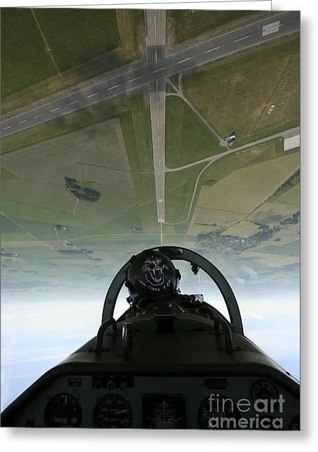 Inside The Pilatus Pc-7 Turboprop Greeting Card by Daniel Karlsson