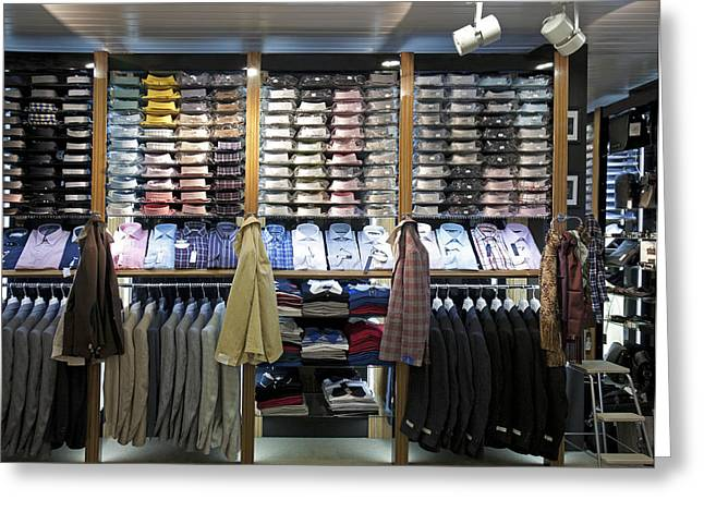Italian Fashion Shop For Men Tallinn Greeting Card by Jaak Nilson