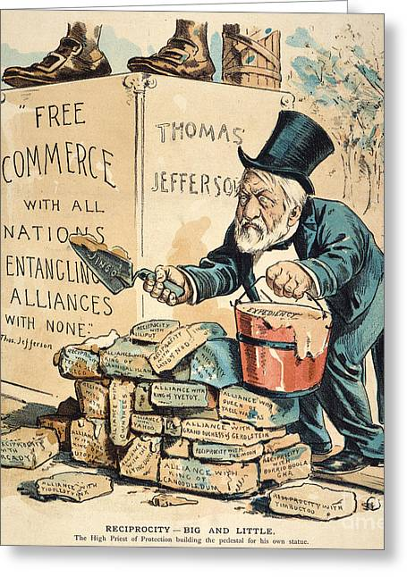 James G. Blaine Cartoon Greeting Card by Granger
