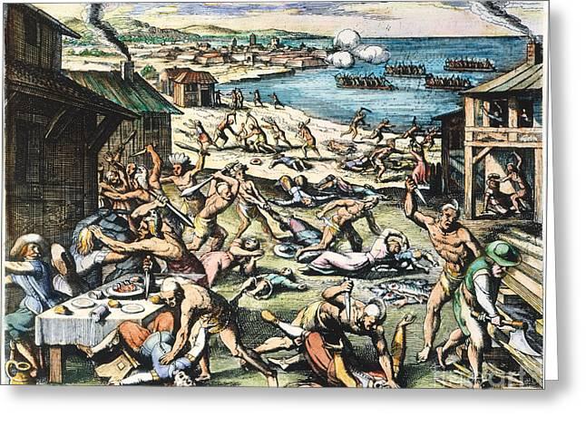 Jamestown: Massacre, 1622 Greeting Card by Granger