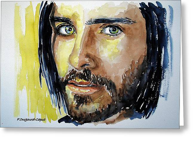 Jared Leto Greeting Card by Francoise Dugourd-Caput