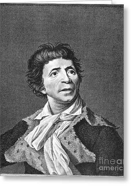Jean-paul Marat (1743-1793) Greeting Card by Granger