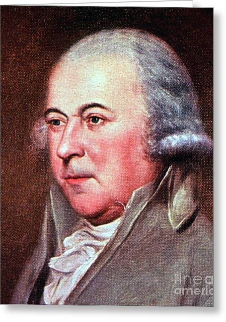 John Adams, 2nd American President Greeting Card by Photo Researchers