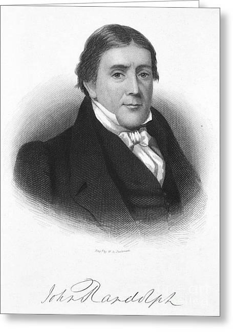 John Randolph (1773-1833) Greeting Card by Granger