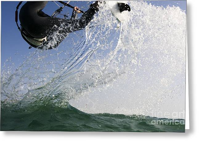 Kitesurfing Board Greeting Card by Hagai Nativ