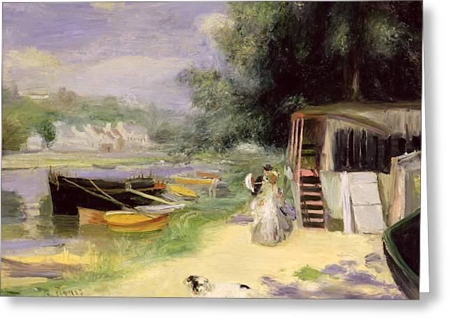 La Grenouillere Greeting Card by Pierre Auguste Renoir