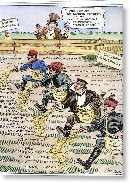 League Of Nations Cartoon Greeting Card