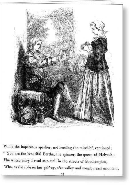 Longfellow: Standish, 1859 Greeting Card by Granger