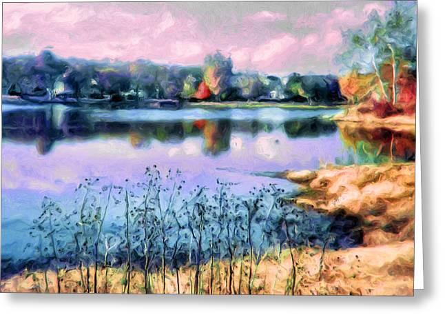 Longview Lake Greeting Card by Laurie Douglas