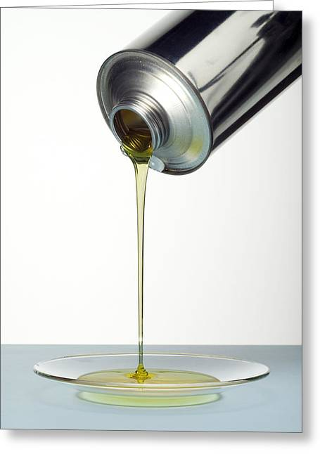 Lubricating Oil Greeting Card by Paul Rapson