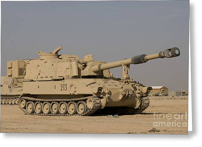 M109 Paladin, A Self-propelled 155mm Greeting Card by Terry Moore