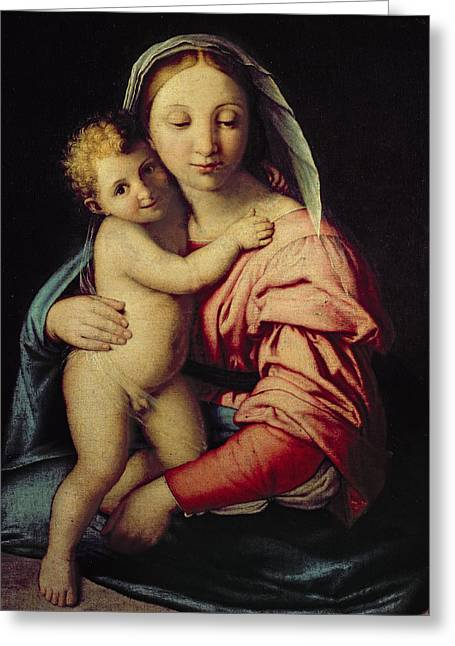 Madonna And Child Greeting Card by Il Sassoferrato
