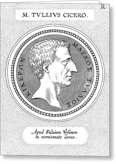 Marcus Tullius Cicero Greeting Card by Granger