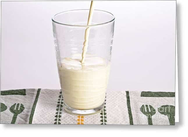 Milk Greeting Card by Photo Researchers, Inc.