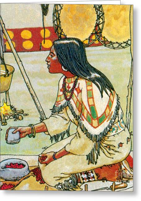 Native American Medicine Greeting Card by Science Source
