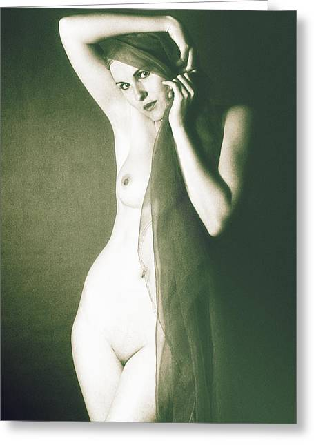 Nude Greeting Card by Falko Follert