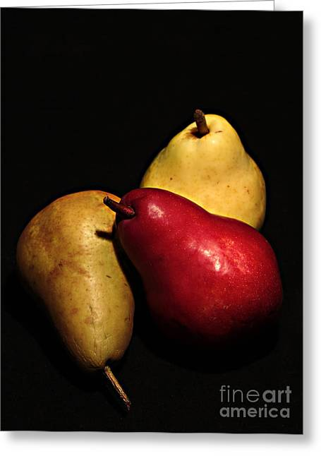 3 Of A Pear Greeting Card by David Taylor