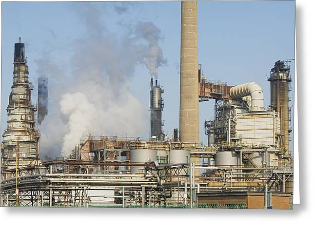 Oil Refinery Buildings At Grangemouth Greeting Card by Iain  Sarjeant