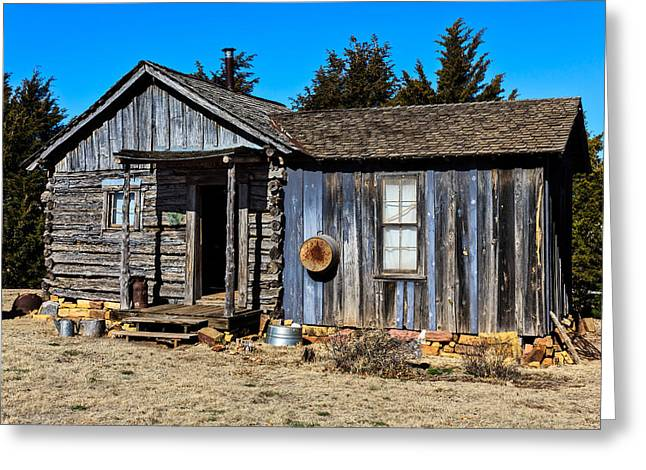 Old Cabin Greeting Card by Doug Long