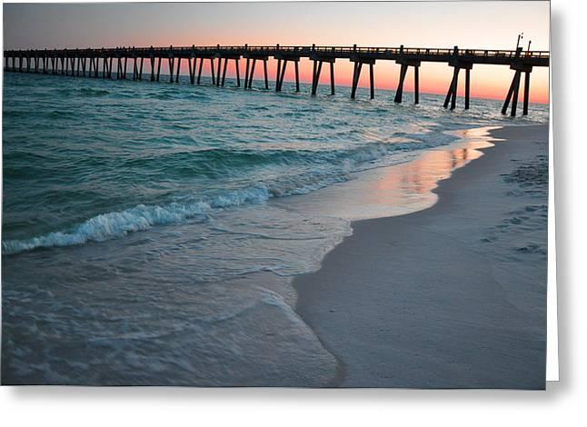 Pensacola Beach Pier Greeting Card