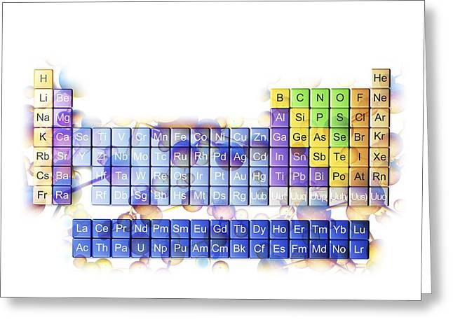 Periodic Table Greeting Card by Pasieka