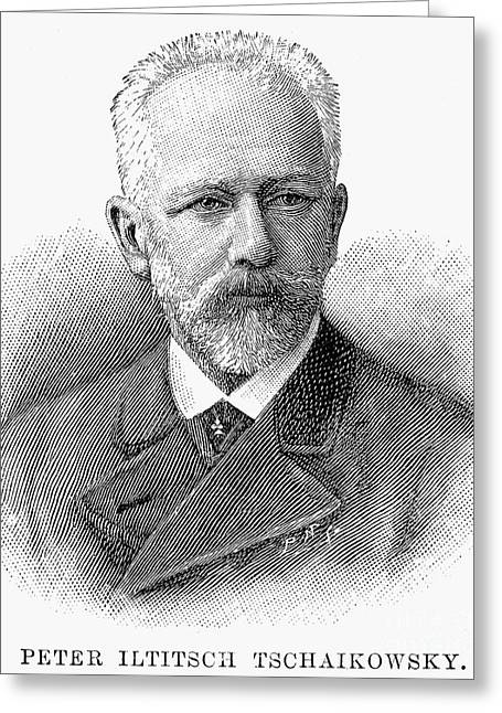 Peter Ilich Tchaikovsky Greeting Card by Granger