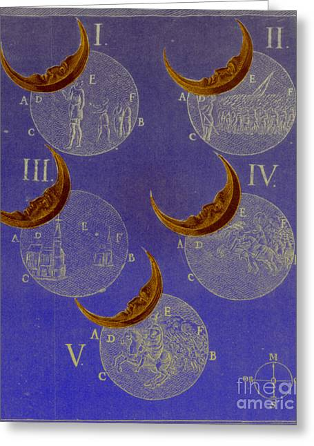 Phases Of An Eclipse Greeting Card by Science Source