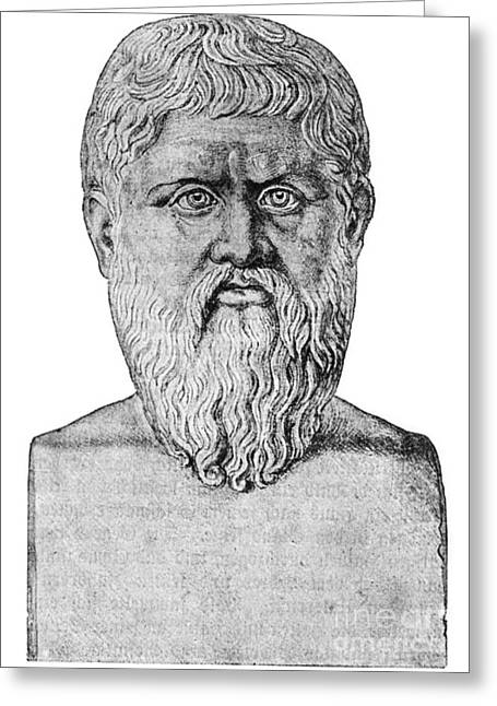 Plato, Ancient Greek Philosopher Greeting Card by Science Source