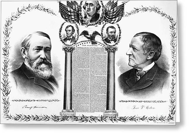 Presidential Campaign, 1888 Greeting Card by Granger