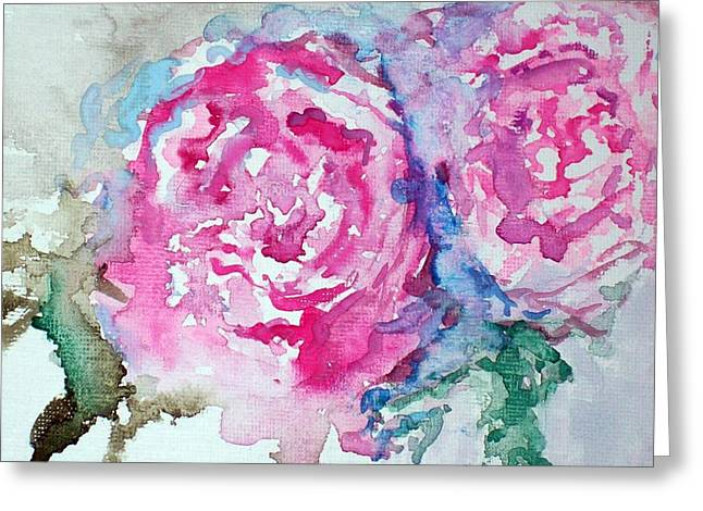 Red Roses Greeting Card by Raymond Doward
