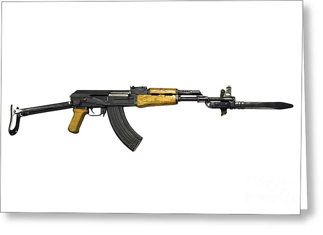 Russian Ak-47 Assault Rifle Greeting Card by Andrew Chittock