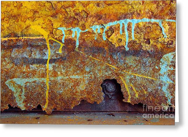Rust Colors Greeting Card by Carlos Caetano