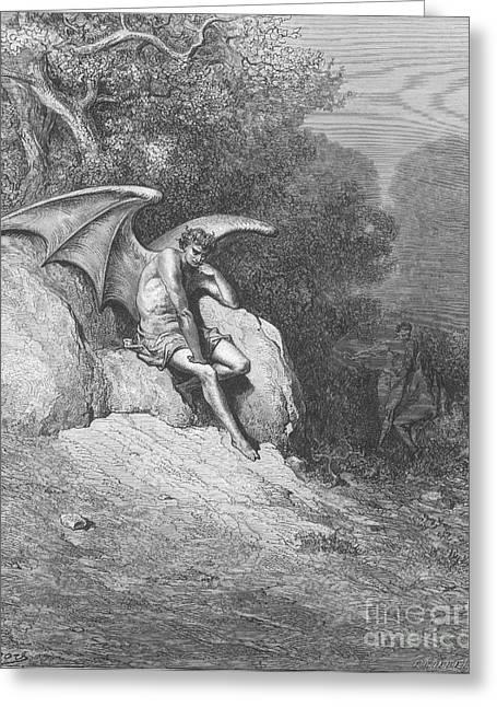 Satan, By Dore Greeting Card
