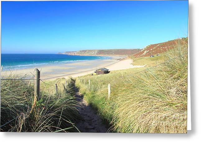 Sennen Cove Greeting Card by Carl Whitfield
