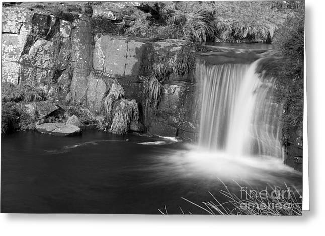 3 Shires Head Waterfall Greeting Card by Steev Stamford