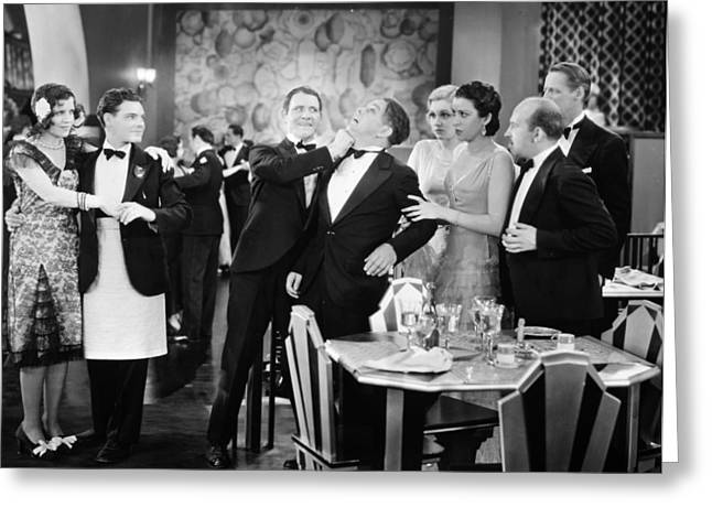 Silent Film: Restaurant Greeting Card by Granger