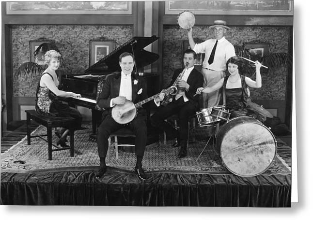 Silent Still: Musicians Greeting Card by Granger