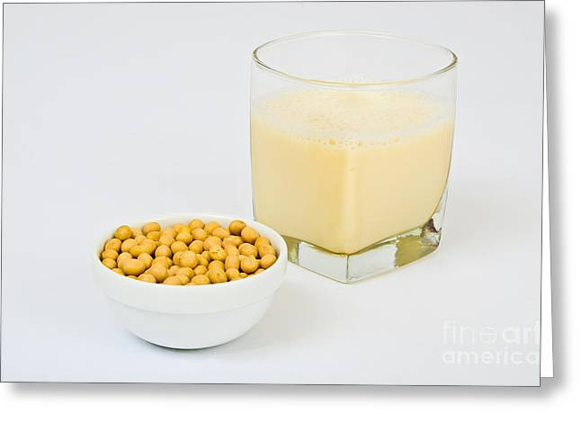 Soy Milk Greeting Card by Photo Researchers