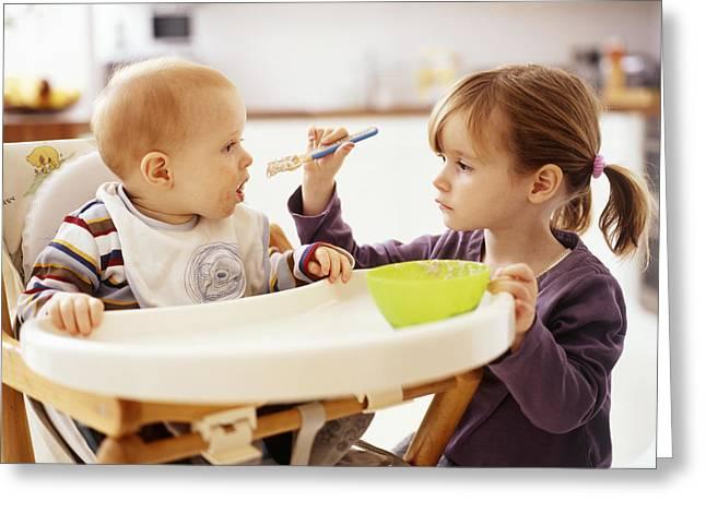 Spoon-feeding Greeting Card
