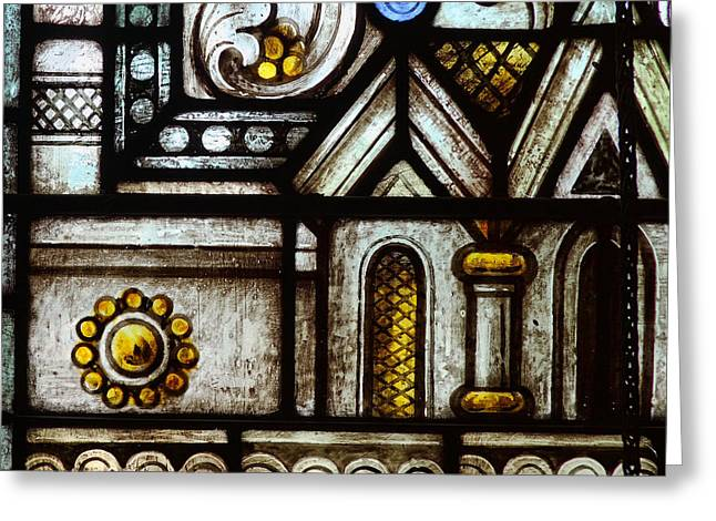 stained Glass Window Greeting Card by Rudy Umans
