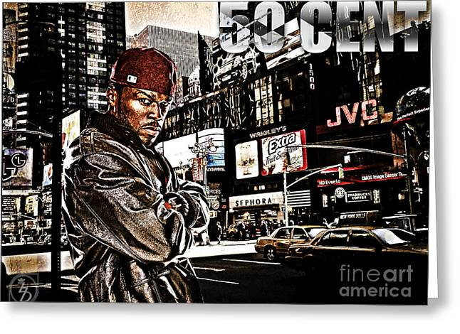 Street Phenomenon 50 Cent Greeting Card