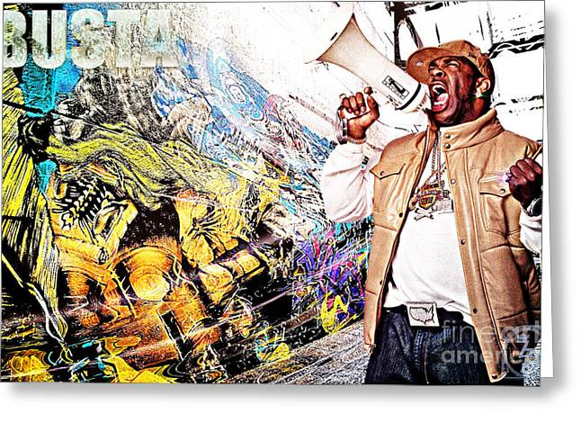 Street Phenomenon Busta Greeting Card by The DigArtisT