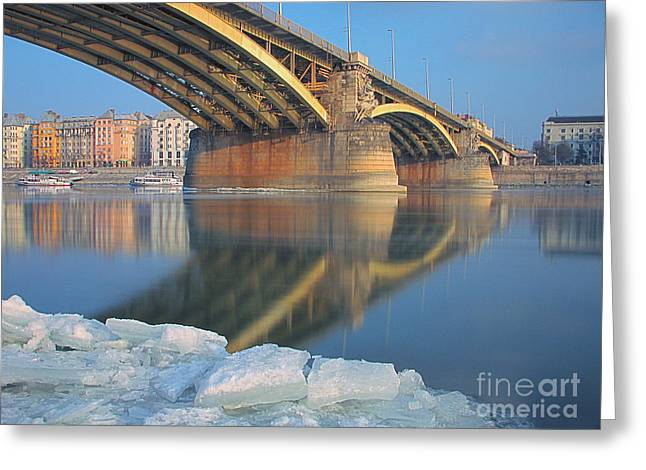The Bridge Greeting Card by Odon Czintos